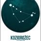 Znak zodiaku, koziorożec - plakat wymiar do wyboru: 70x100 cm