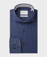Elegancka granatowa koszula michaelis z kontrastami  45