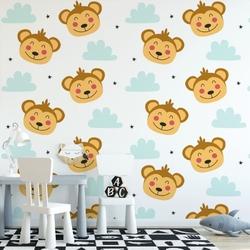 Tapeta dla dzieci - monkey sky , rodzaj - próbka tapety 50x50cm