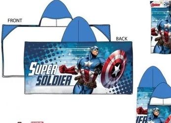 Ponczo ręcznik z kapturem avengers 60x120cm