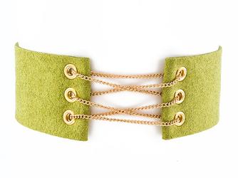 Choker przeplatany zielony - zielony