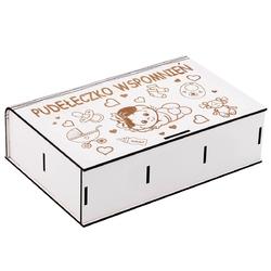 Pudełko wspomnień dla dziewczynki na roczek chrzest z grawerem