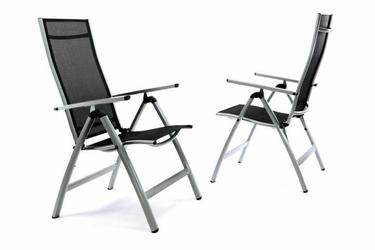 Zestaw 2 krzeseł ogrodowych składanych