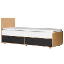 Łóżko z szufladami Migos 80x200 czarne
