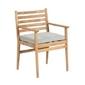 Drewniane krzesło ogrodowe siera