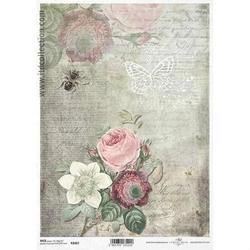 Papier ryżowy itd a4 r1067 kwiaty