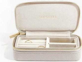 Pudełko podróżne na biżuterię travel medium stackers taupe
