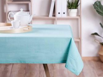 Obrus na stół altom design bawełna miętowy  wykończenie ażurowe 160 x 240 cm