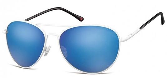 Biale aviatory okulary lustrzanki ms95e