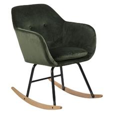 Fotel bujany Emily zielony welur