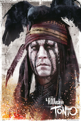 Jeździec Znikąd - The Lone Ranger - Tonto - plakat