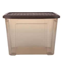 Pojemnik  organizer do przechowywania i na pościel modułowy tontarelli combi box z pokrywką arianna brązowy 18 l
