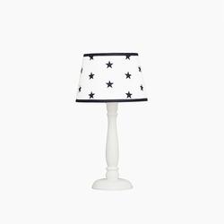 Lampka nocna roomee decor - biała w granatowe gwiazdki