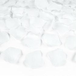 Dekoracyjne płatki róż - biały - bia