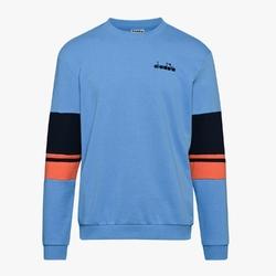 Bluza męska diadora crewneck sweat logo - niebieski