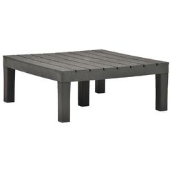 Vidaxl stolik ogrodowy, antracytowy, 78 x 78 x 31 cm, plastikowy
