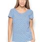 Niebieska bluzka z geometrycznym nadrukiem