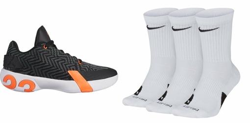 Zestaw buty Air Jordan Ultra.Fly 3 Low - AO6224-008 + Skarpety Nike Elite Crew 3 Pary - SX7627-100