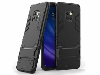 Etui Alogy Stand Armor do Huawei Mate 20 Pro czarne + szkło