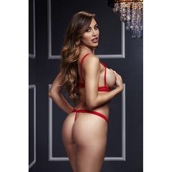 Sexshop - body z paseczków - baci strappy bodysuit  czerwony - online