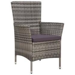 Komplet ogrodowy stół + 8 krzeseł kolia polirattan szary