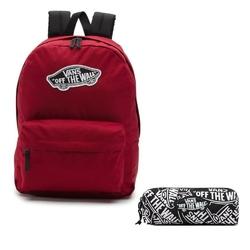 Plecak szkolny vans realm biking red - vn0a3ui61oa + piórnik