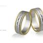 Obrączki ślubne - wzór au-401