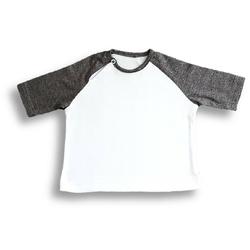 Nanaf Organic, BAMBUS, T-shirt, biało-szary