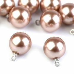 Elegancka zawieszka perła 11 mm - beżowy - beżowy