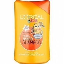 Loreal Kids Tropical Mango, szampon dla dzieci z owoców mango o przyjemnym  zapachu 250ml