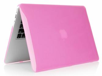 Etui Hard Case do MacBook Air 13 różowe przezroczyste - Różowy