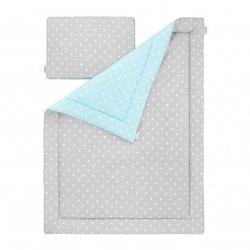 Pościel 100 x 135 - lovely dots mint  grey