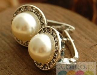Adria - srebrne kolczyki z perłami i kryształami