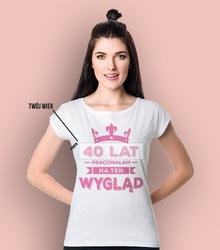 Pracowałam na ten wygląd  t-shirt damski biały xs