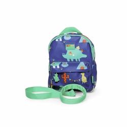 Plecak ze smyczą, Dinozaury, granatowy, Penny Scallan