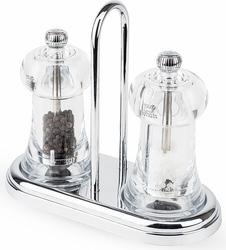 Zestaw młynków do soli i pieprzu z podstawką brasserie