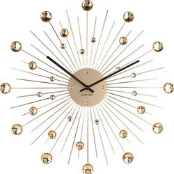 Zegar ścienny sunburst xl złoty