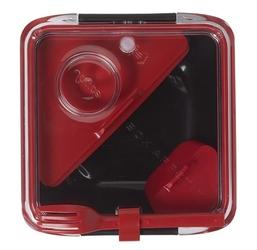 Lunch box box appetite czarno-czerwony black+blum