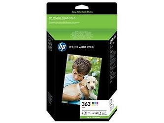 HP Tusze nr 363 + 150 arkuszy Papieru Fotograficznego Q7966EE