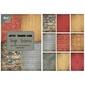 Ozdobny papier tough textures 85x60mm36szt. - totex