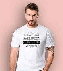 Koszulka zastępcza t-shirt męski biały l