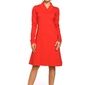 Sukienka sportowa z rozszerzonym dołem czerwona b044