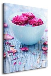 Kwiaty w wazie - obraz na płótnie