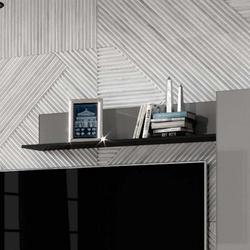 Helio 01 półka 120 - czarneszare szkło