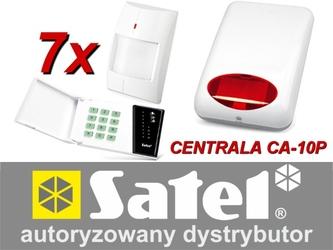 Alarm satel ca-10 led, 7xaqua plus, syg. zew. spl-5010r - możliwość montażu - zadzwoń: 34 333 57 04 - 37 sklepów w całej polsce
