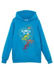 Bluza z kapturem bonprix niebieski oceaniczny