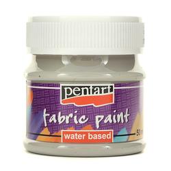 Farba do tkanin 50 ml Pentart - szara - SZA