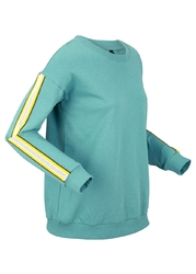 Bluza przyjazna dla środowiska, długi rękaw bonprix niebieski mineralny