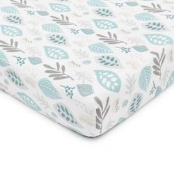 Prześcieradło z gumką do łóżeczka Floral turkus 140×70 cm