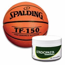 Stadiopasta - maść lecznicza na kontuzje 250 ml + Piłka do koszykówki Spalding TF-150 FIBA